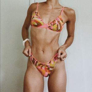New J. Crew French Bikini Top in Ratti Floral